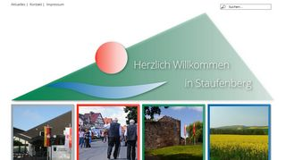 Screenshot: Homepage Gemeinde Staufenberg