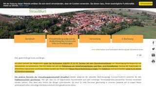 Screenshot: Homepage Verwaltungsgemeinschaft Straußfurt