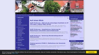 Screenshot: Homepage Gemeinde Südharz