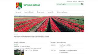 Screenshot: Homepage Gemeinde Sülzetal