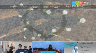 Screenshot: Homepage Stadt Teltow