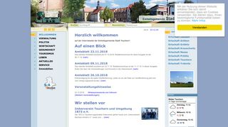 Screenshot: Homepage Stadt Teuchern