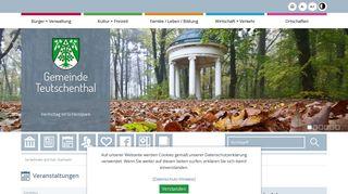 Screenshot: Homepage Gemeinde Teutschenthal