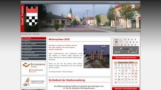 Screenshot: Homepage Stadt Trebbin