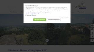Screenshot: Homepage Stadt Ulrichstein