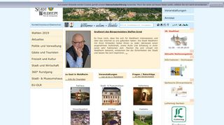 Screenshot: Homepage Stadt Waldheim