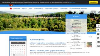 Screenshot: Homepage Gemeinde Walkenried