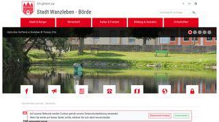Screenshot: Homepage Stadt Wanzleben