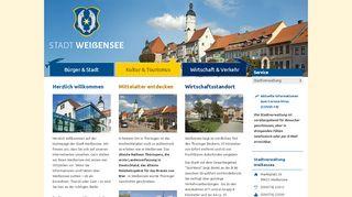 Screenshot: Homepage Stadt Weißensee