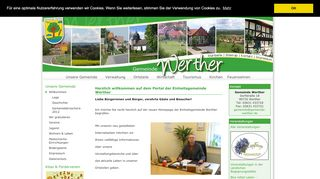 Screenshot: Homepage Gemeinde Werther