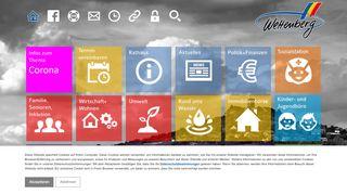 Screenshot: Homepage Gemeinde Wettenberg