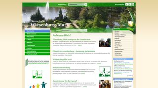 Screenshot: Homepage Gemeinde Wiesenburg