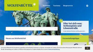 Screenshot: Homepage Stadt Wolfenbüttel