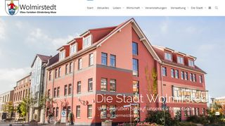 Screenshot: Homepage Stadt Wolmirstedt