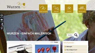Screenshot: Homepage Stadt Wurzen