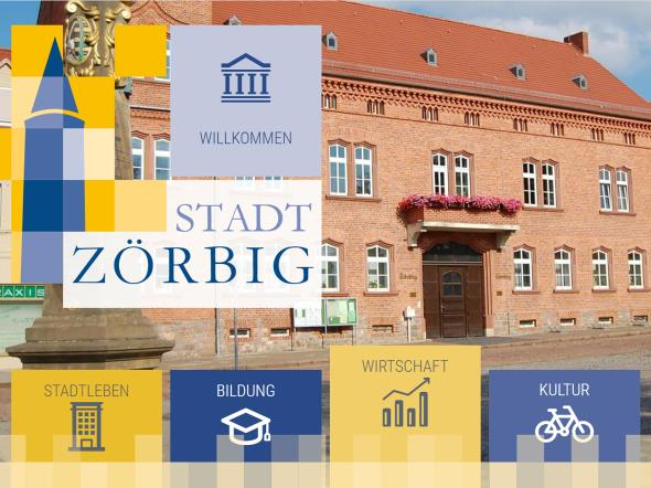 Screenshot: Homepage Stadt Zörbig