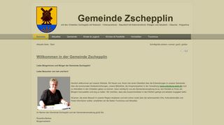 Screenshot: Homepage Gemeinde Zschepplin